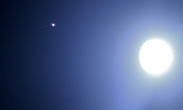 Jupiter and The Moon on Christmas Day 2012