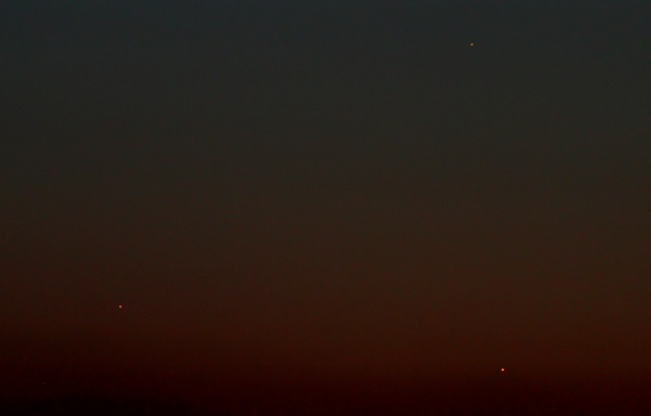 Jupiter, Mercury and Venus