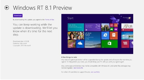 Windows RT 8.1 on Surface RT in the UK