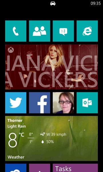 Windows Phone Driving Mode On