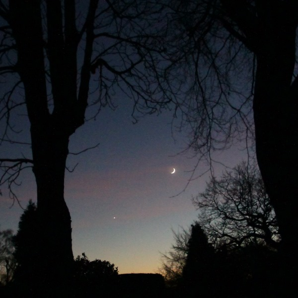 Venus and The Moon in December 2013
