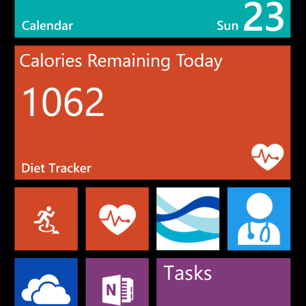 Health and Fitness apps on Windows Phone
