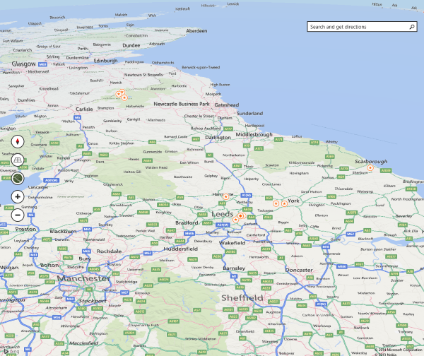 Bing Maps for Windows 8.1