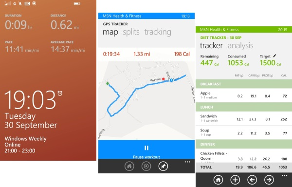 MSN Health & Fitness for Windows Phone