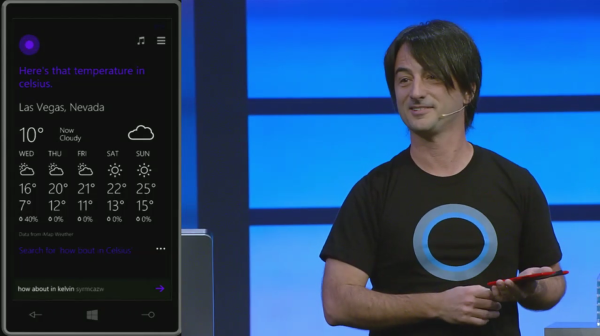 Joe Belfiore introducing Cortana