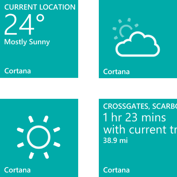 Cortana's Live Tile on Windows Phone 8.1