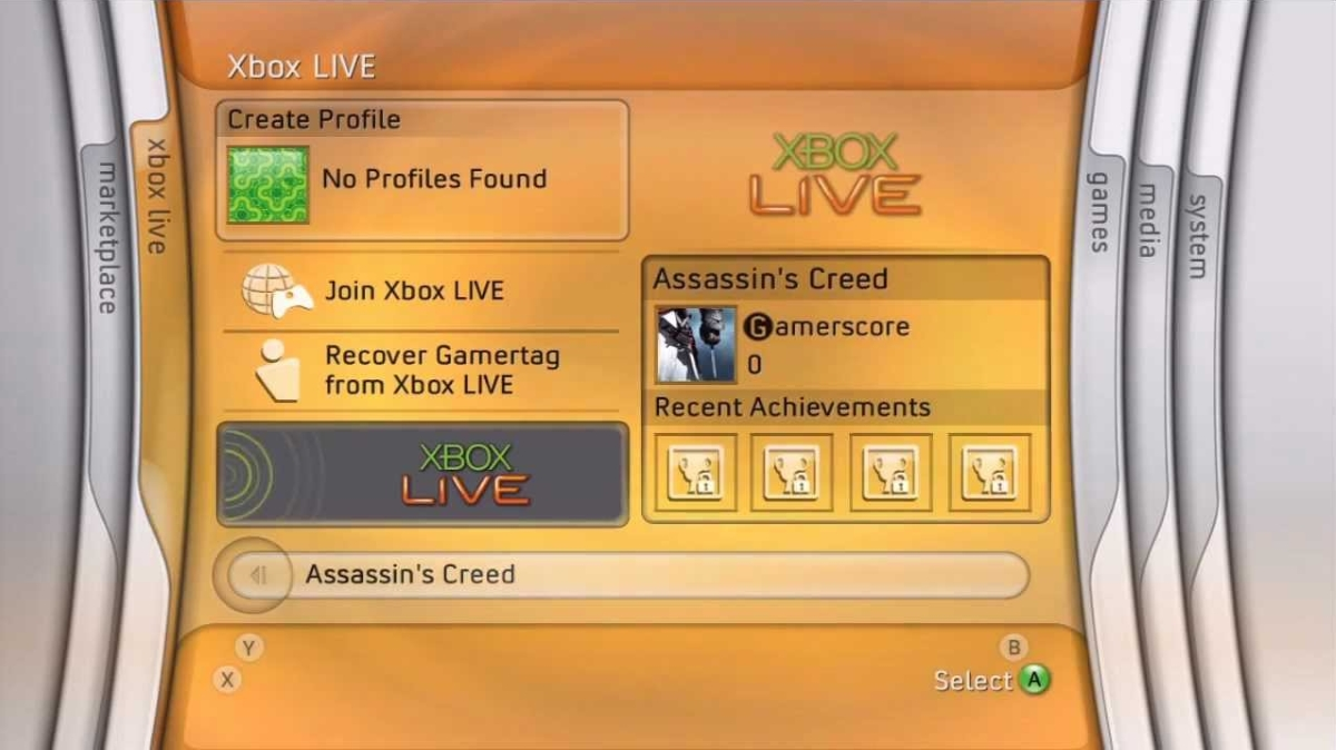 Original Xbox 360 Dashboard